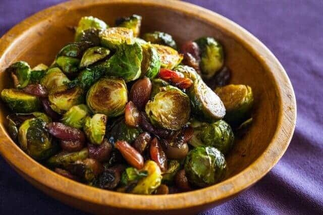 recipe for roasted brussels sprouts and grapes