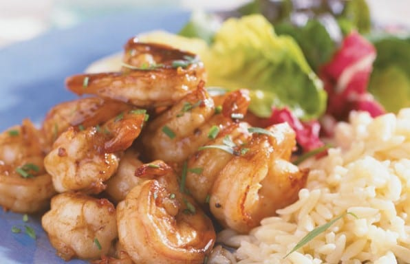 Sauteed Shrimp with buttery vinegar sauce